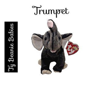 🔴 15/$25. Ty Beanie Babies ~ Trumpet the Elephant